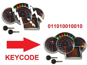 Moto Guzzi Data key copy km mile
