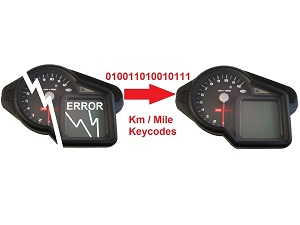Data copy Aprilia cockpit dashboard