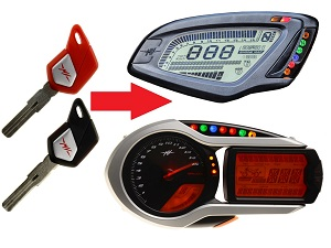 MV Agusta programming 2x transponder chip key → unit